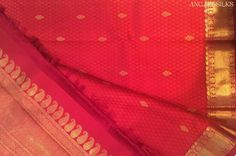 Angadi Silks Red Kanchivaram Saree | Diwali Folklore