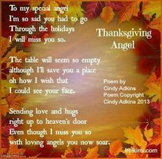 Happy Thanksgiving In Heaven Mom Sayings For Lost Loved Ones On