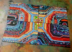 """DONT MISS OUT JOSE Juarez ORIGINAL  PAINTING ACEO  LET THE  BIDDING BEGIN THIS CARD MORPHS ITS SO COOL !!:)  """"A RUBIX CUBE""""  OOAK ART NEW AMAZING ART #OutsiderArt #aceo #atc #sketchcard #art #aceogallery #abstract #aceoabstract #tradingcards #original #painting #ooak #drawing #handmade #oneofakind #ooak Types Of Art Styles, We Make Up, Amazing Art, Amazing Places, Outsider Art, Large Painting, Original Paintings, Original Art, My Sunshine"""