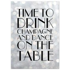 Time to drink champagne and dance on the table bachelorette party invitation.   #weddings #bacheloretteparty #invitations