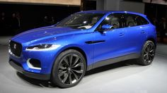 Jaguar's C-X17 sports crossover concept, on display at the 2013 Frankfurt Motor Show