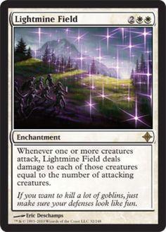 Lightmine Field mtg Magic the Gathering white rare enchantment Rise of the Eldrazi card