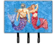 Mermaid and Merman Leash Holder and Key Hook