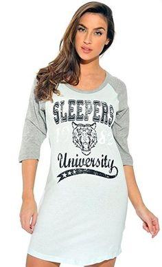 70fb1700db Just Love 100% Cotton Sleep Dress For Women Baseball Sleeve Nightshirt Love  100