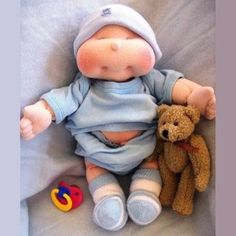 Dinky Baby, 14 inch Soft Cloth Doll Pattern... This is to cute! Dylan could have his own baby :)