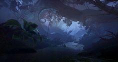 Dragon Age Inquisition Jaws of Hakkon Deep Jungle, Shawn Kassian on ArtStation at https://www.artstation.com/artwork/dragon-age-inquisition-jaws-of-hakkon-deep-jungle
