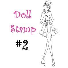 Prima Doll Stamp - Julie Nutting - SHIPPING JUNE 3rd!!!  www.CrazyCraftyCreators.etsy.com