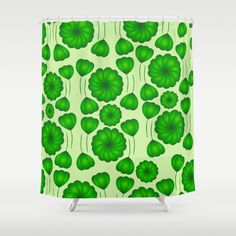 A beautiful #shower curtain, perfect for #summer.  #vegetation #greenery #green #floral #society6