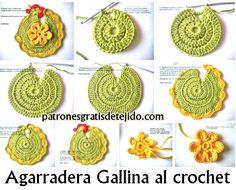 gallina crochet agarradera paso a paso