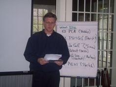 Planning Workshop: Bobby Watts presenting plans for our Personal Leadership seminars