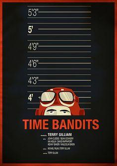 Time Bandits (1981) ~ Minimal Movie Poster by Chris Thornley #amusementphile
