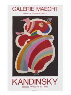 Galerie Maeght Print Poster Plakat Kandinsky Forme Rouge X 72 cm, 275 kr. Wassily Kandinsky, Kandinsky Prints, Framed Prints, Poster Prints, Art Prints, Posters, Revolutionary Artists, Famous Abstract Artists, Exhibition Poster