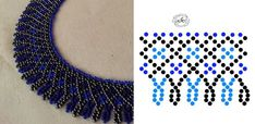Seed Bead Necklace, Seed Bead Jewelry, Bead Jewellery, Diy Necklace Patterns, Beaded Jewelry Patterns, Beaded Collar, Beaded Brooch, Beading Projects, Beading Tutorials