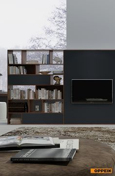 Here Is A Beautiful Design Of Tv Stand And Bookshelf The Combination Gray Door