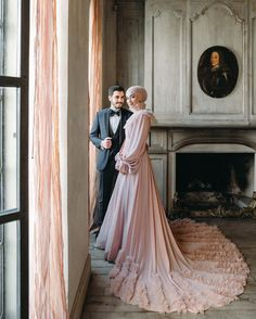 Sena Ve Ömer Zarif Film dresses muslim modern Bridal Hijab, Wedding Hijab, Red Wedding Dresses, Wedding Bridesmaids, Bridal Dresses, Party Wedding, Dress Muslim Modern, Muslimah Wedding, Hijab Style Dress
