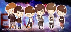EXO-K fan art created by Bergie!     EXO K [Please remember to credit Bergie and www.weibo.com/bergie if taking out/reposting.]