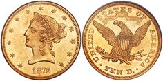 1873 $10 Gold Closed 3 AU58 NGC sold for $49,350 at the Heritage Auctions FUN Show U.S. Coins Signature Sale in Fort Lauderdale, Florida, January 4-9, 2017...In the last three years we have monitored eight trades in grades XF40 to AU58 with a price range of $12,750 to $55,000. There are only 37 coins certified by PCGS and NGC in grades XF40 through AU58. We did find bids for the AU58 but they were well under $8,000 which is a far cry from the current FMV of $39,980....