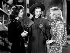 "Katharine Hepburn, Lucille Ball and Ginger Rogers in ""Stage Door"" (1937)."
