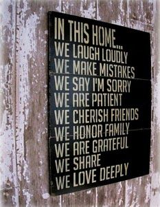 I want one of these for my house! In This Home House Rules Antiqued Plank by cellardesigns on Etsy Great Quotes, Quotes To Live By, Me Quotes, Inspirational Quotes, Wall Quotes, Quotable Quotes, Funky Quotes, Motivational Quotes, Rules Quotes