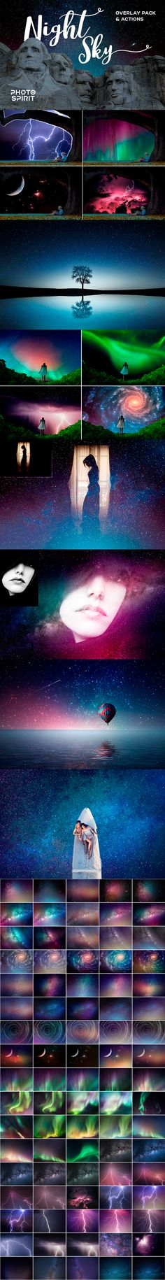 Night Sky Background Overlays - #Photo #Effects #Actions