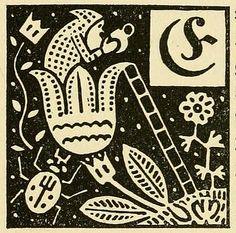 Illustrated initials from Deutsche Märchen seit Grimm (German Fairytales since Grimm), 1919