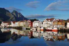 Henningsvaer, Norway. One of the most magical towns, if you ever get the chance to go to the arctic....do not miss this place