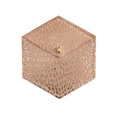 Hexagon Coin Purse - Natural