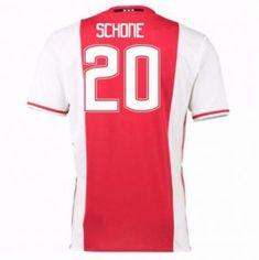 Ajax 16-17 Season Home #20 Schone Soccer Jersey [G721]