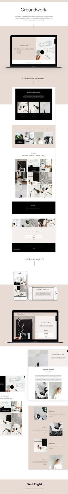 Groundwork theme. WordPress Web Theme. Perfect way to take your brand online. Shop Now.