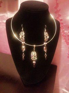 Matching Jewelry Set Pendant & Earrings by GlassSlipperGLAMOUR