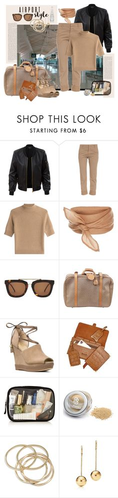 """Airportstyle"" by marionmeyer ❤ liked on Polyvore featuring LE3NO, Band of Outsiders, Theory, Kaibosh, Gucci, MICHAEL Michael Kors, Aspinal of London, ABS by Allen Schwartz and airportstyle"
