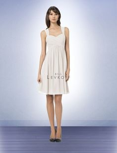 Bill Levkoff dresses in ivory, champagne and petal