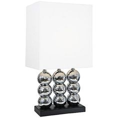 Van Teal Beautiful World Chrome Stacked Globe Table Lamp