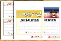 Today I have made these 9 adorable Free Printable Words of Wisdom Cards for…