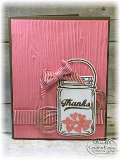 FunStamper.com    Stampin Up; Oksana's Creative Corner: Jar of Love stamp set in Pink