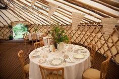 The Yurts can be used for wedding receptions, or even for an exclusive dinner party.  www.yurtviva.com