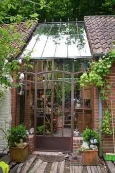 How to make the small greenhouse? There are some tempting seven basic steps to make the small greenhouse to beautify your garden. Build A Greenhouse, Greenhouse Gardening, Greenhouse Ideas, Greenhouse Wedding, Cheap Greenhouse, Greenhouse Gases, Greenhouse Attached To House, Pergola Ideas, Gazebos