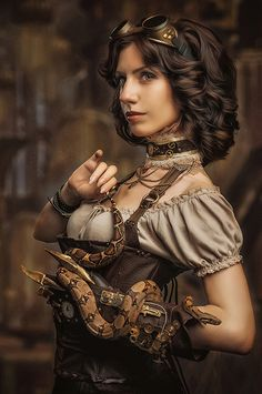 If you lived through the nineties you probably watched Xena: Warrior Princess. We can all agree that Xena was an amazing role model for a whole generation of Steampunk Cosplay, Chat Steampunk, Moda Steampunk, Steampunk Outfits, Style Steampunk, Steampunk Couture, Victorian Steampunk, Steampunk Clothing, Steampunk Fashion