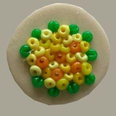 Polymer Clay Yellow & Orange Blossoms Fridge Magnet