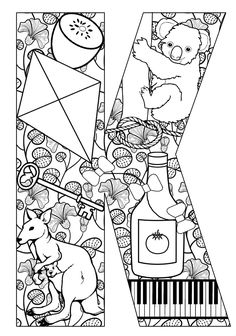 Things that start with K - Free Printable Coloring Pages