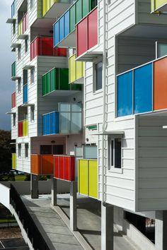 Coloured Glass.  Bird de la Coeur Architects with McCabe Architects Photos: John Gollings