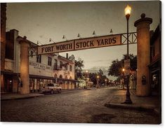 Joan Carroll Canvas Print featuring the photograph Fort Worth StockYards by Joan Carroll