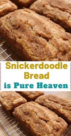 Snickerdoodle Sweet Bread – the perfect recipe for all cinnamon lovers! So, are you a connoisseur who's always looking forward to trying out innovative cinnamon recipes? If yes, then this particular recipe will be so appropriate Cinnamon Recipes, Baking Recipes, Bread Recipes, Cake Recipes, Dessert Recipes, Cinnamon Bread, Köstliche Desserts, Delicious Desserts, Yummy Food