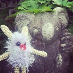 baba_cchi:: カッパのようなコアラさんこんにちは  #amigurumi #アミグルミ #love #happy #nice #imagination #fantasy #funny #smile #cute #good #picoftheday  #today #picture #knit #crochet #handmade #art #rabbit #stone #もじゃ #コアラ
