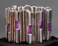 Bracelet | Antonio Pineda.  Sterling silver and amethyst.