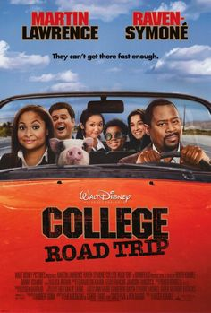 College Road Trip on DVD July 2008 starring Martin Lawrence, Raven Symone, Will Sasso, Donny Osmond. Choosing which college to attend can be the most exciting and thrilling time of a young woman's life.unless your overprotective father isn Raven Symone, Road Trip Film, Movie To Watch List, See Movie, Movie Tv, Watch Movies, Movie List, College Road Trip, Road Trips