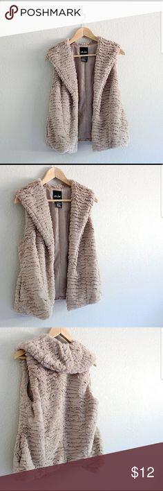 Faux-fur vest Drapey,  super soft, faux fur vest...ME JANE BRAND Me Jane Jackets & Coats Vests