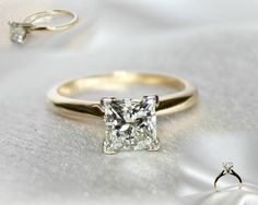 Diamond Ring,Size 5, 14kt yellow gold Princess Cut Solitaire Diamond approx. 1.33ct Clarity- SI, Color- H/I. This Beautiful Princess Cut ring is only 5,999.00 for more information call 910-219-4653 and refer to the Pinterest Princess cut Diamond Ring
