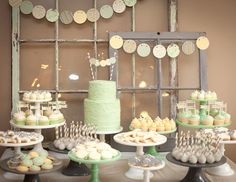 DIY Baby Shower, with Green and Yellow tones