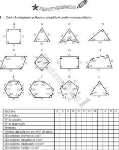 20 Ideas De Poligonos Actividades De Geometría Matematica Ejercicios Figuras Y Cuerpos Geometricos